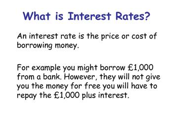 Interest Rates - Impact of Increasing & Decreasing Interest Rates