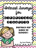 Interest Surveys for Elementary Students