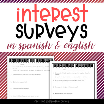 Interest Surveys in Spanish and English