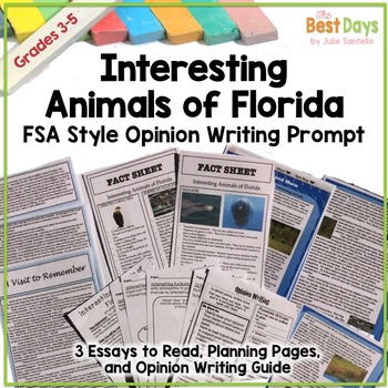 Interesting Animals of Florida: A Cross-Curricular Opinion Writing Test Prep