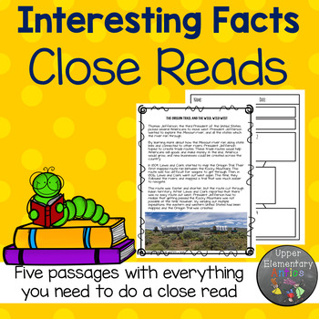Distance Learning Close Reads about Interesting Facts