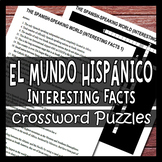 Interesting Facts - Spanish Speaking World - Culture Crossword Puzzle Worksheets