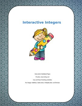 Interactive Integers Unit Interactive Notebook Pages