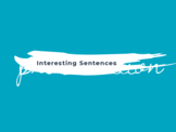Interesting Sentences