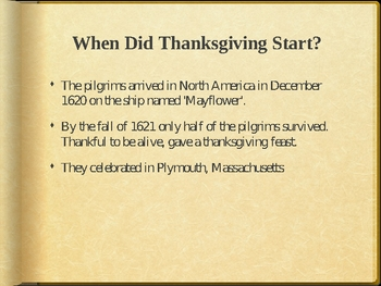 Interesting Thanksgiving Facts