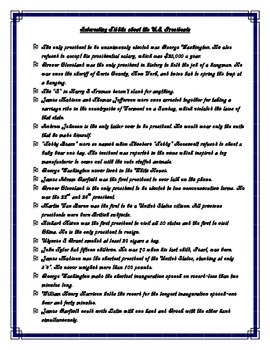 Interesting and Funny Facts About the United States Presidents
