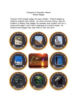 Intergalactic Recorder Mission Badges