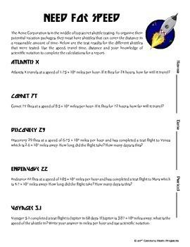 Intergalactic Tourism -- Scientific Notation Project
