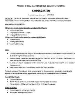 Interim Practice Assessment Narrative Writing