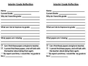 Interim Self-Reflection Sheet
