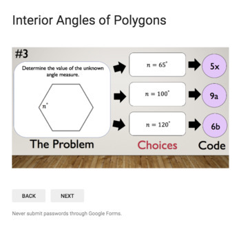 Interior Angle Measures of Polygons  – Bad Dog Breakout for Google Classroom!