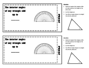Interior Angle Sum Of A Triangle