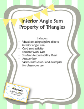 Interior Angle Sum with Variables as Angle Measurements