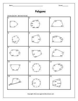 Interior Angles Of Polygons Teaching Resources Teachers Pay Teachers