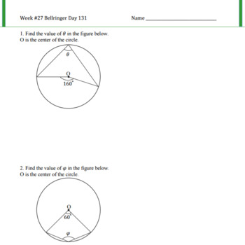 Interior Angles of a Cyclic Quadrilaterals Lesson Plan G.C.A.3
