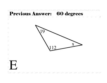 Interior Angles of a Triangle Scavenger Hunt