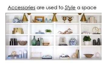 Interior Design Home Accessories and Styling Lesson Package