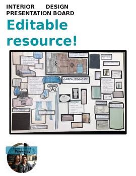 Interior Design Presentation Board rubric, reflection, and examples