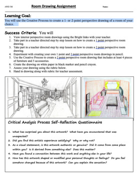 Interior Design Room Perspective Drawing By Andriana Cipric Tpt