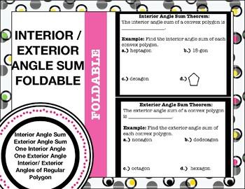 Interior/ Exterior Angle Theorem Foldable