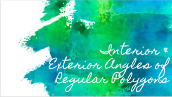 Interior & Exterior Angles of Polygons PPT Activity