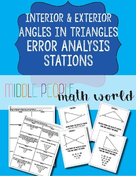 exterior angles of triangles teaching resources teachers pay teachers