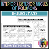Interior and Exterior Angles of Polygons Mazes