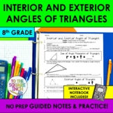 Interior and Exterior Angles of Triangles Notes