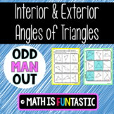 Interior and Exterior Angles of Triangles Odd Man Out