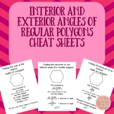 Interior and Exterior Angles of a Polygon Cheat Sheets