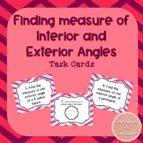 Interior and Exterior Angles of a Polygon Task Cards
