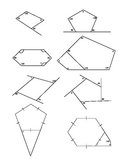 Interior/Exterior Angles of a Polygon Worksheet