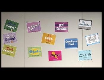 Interjecciones en Español / Spanish Interjections Posters / Signs