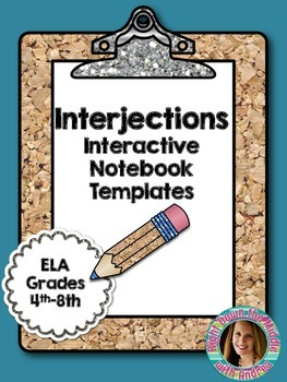 Interjections Interactive Notebook Templates