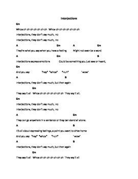 Interjection Song Lyrics