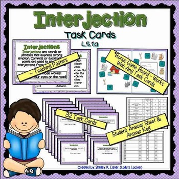 Interjection Task Cards