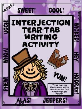 Interjection Tear-A-Tab Grammar Activity