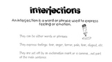 Interjection and Conjunction Notes