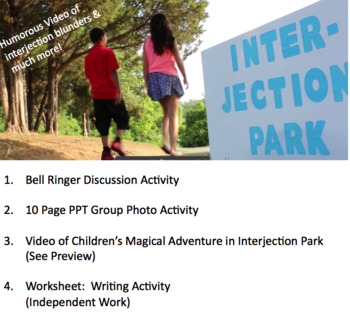Interjections Bundle - 4 Parts & humorous video of interjection blunders(L)