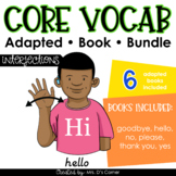 Interjections Core Vocabulary Adapted Book Bundle [Level 1