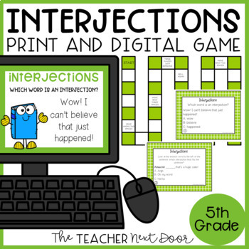 Interjections Game   Interjections Center   Interjections Activities