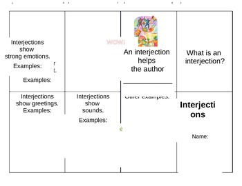 Interjections Mini Book