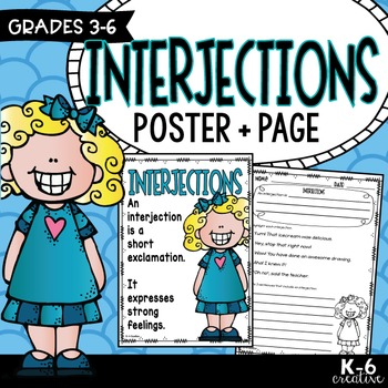 Interjections - Poster & Activity