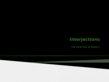 Interjections Power Point