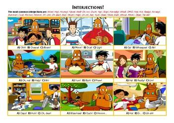 Interjections! Practice Worksheet