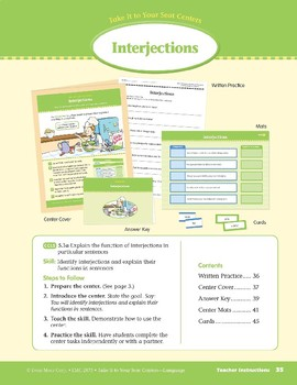 Interjections (Take It to Your Seat Centers: Common Core Language)