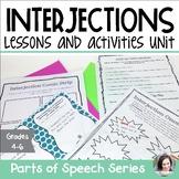Interjections Unit - Parts of Speech Unit