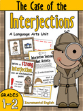 Interjections Worksheets and Activities Unit - The Case of