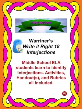 Interjections: Warriner's Write it Right 18