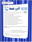 Interjections Worksheet